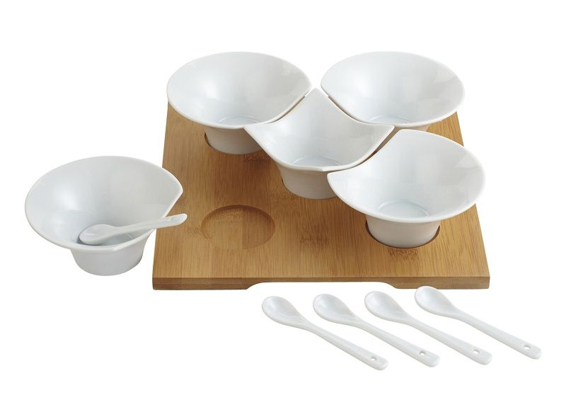 Our Bamboo Tasting Party Set Is Really No Puzzle Tableware