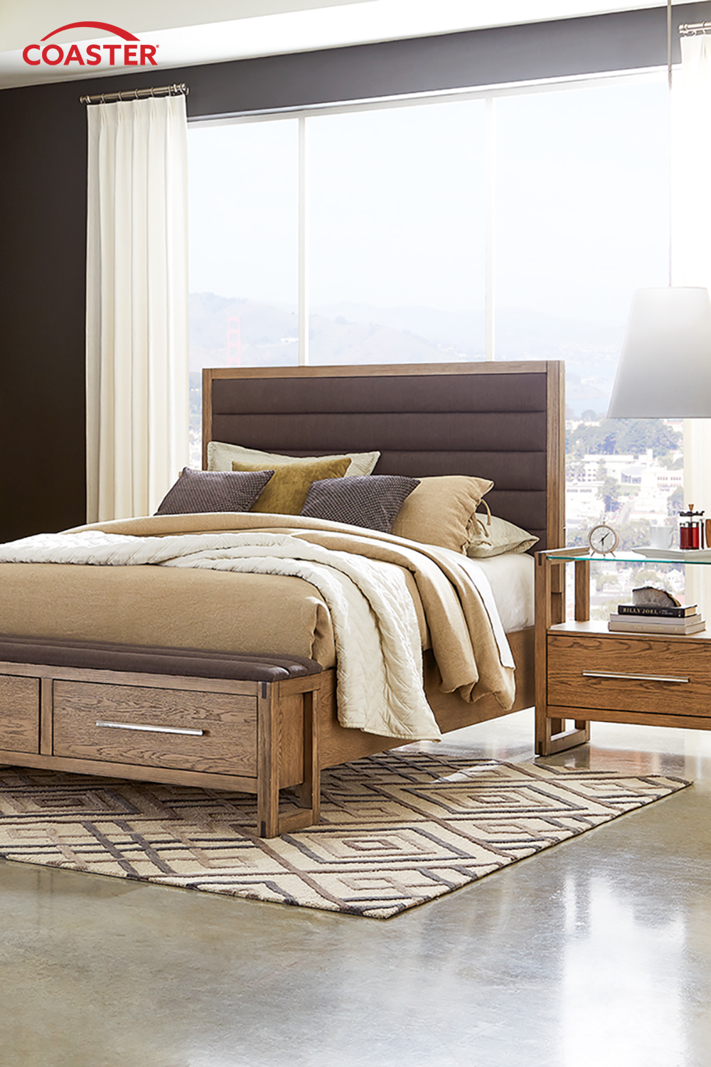Elegant contemporary bedroom sets, like this one from