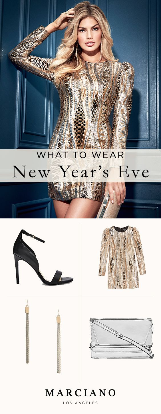2963982dce64 The Lise Embellished Dress from the Marciano Holiday  17 collection is the  perfect amount of sparkle for New Year s Eve.