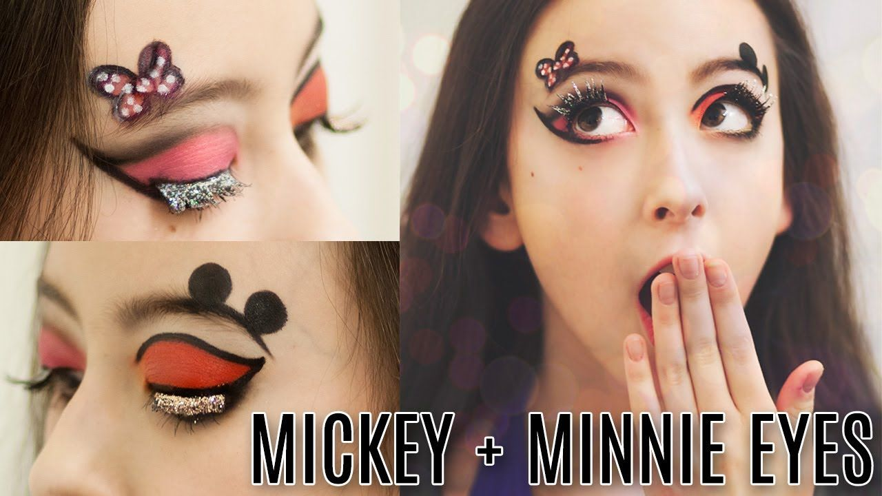 Mickey and Minnie Mouse Eye Makeup Tutorial! | Courtney Little ...