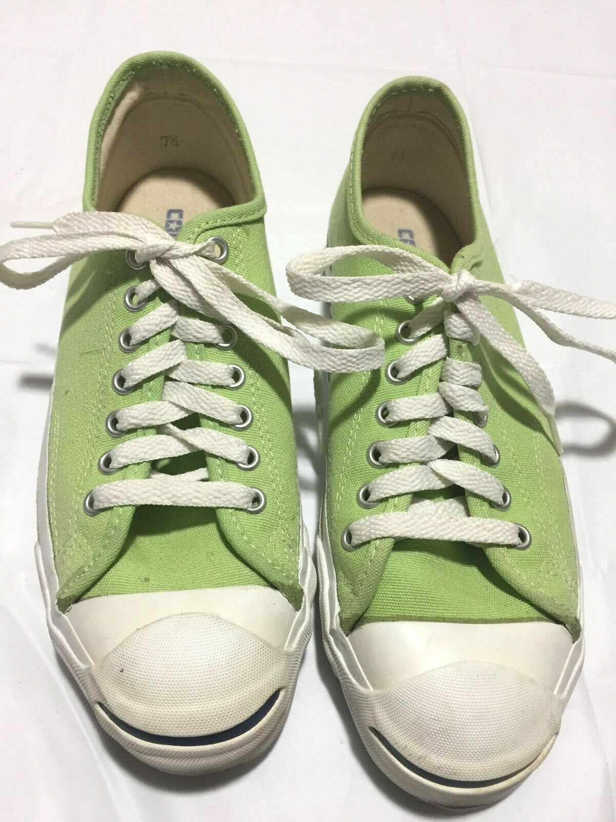 1cb5f41489c4 Vintage Converse Jack Purcell Low Top Sneakers Men s 7 1 2 Made USA Lime  Green