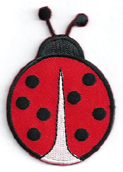 Ladybird Patch Embroidered Badge Embroidery Ladybug Insect Flower Iron On Sew On