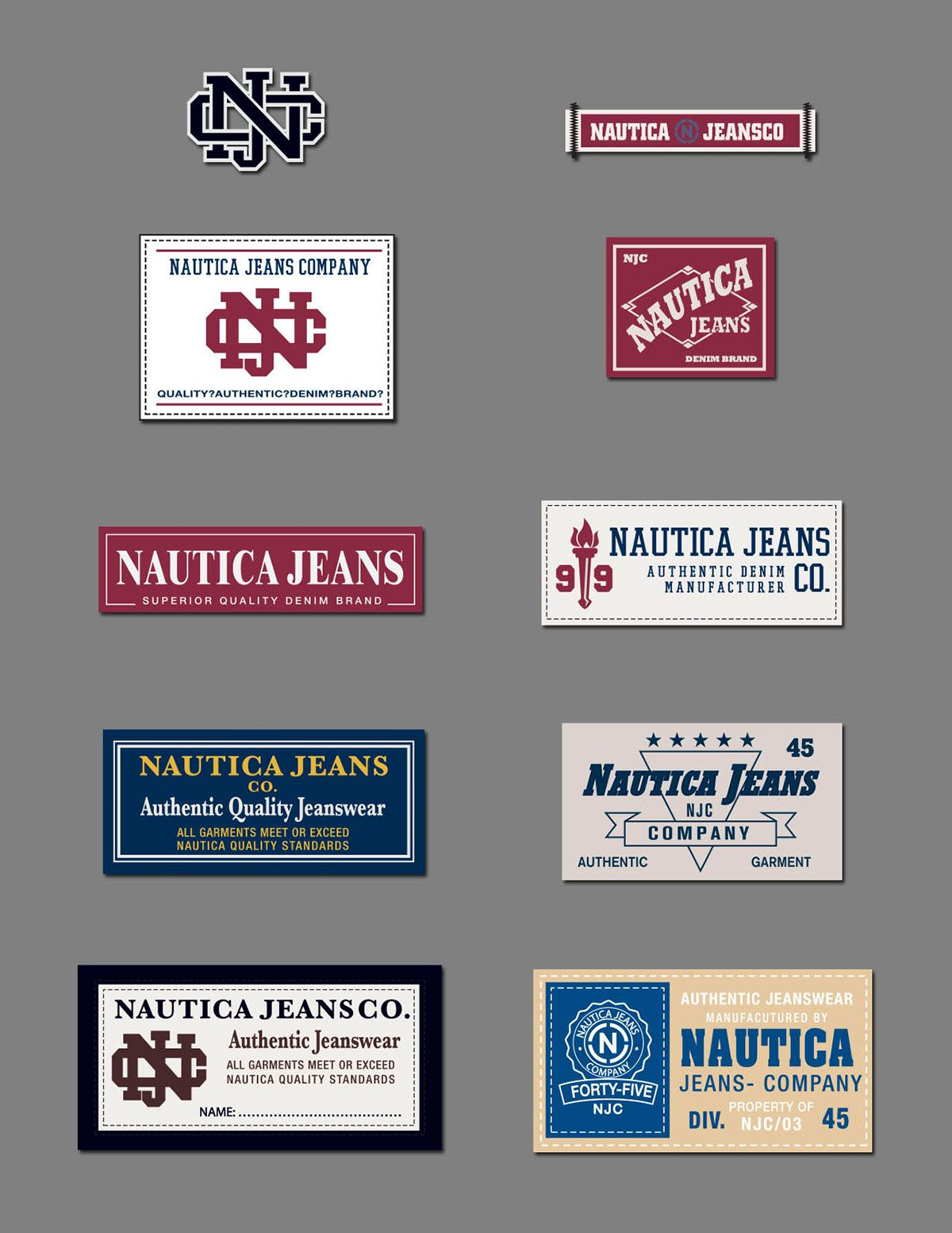61e88bef Nautica Apparel Trim on Behance | HANG TAG + LABEL | Clothing labels ...