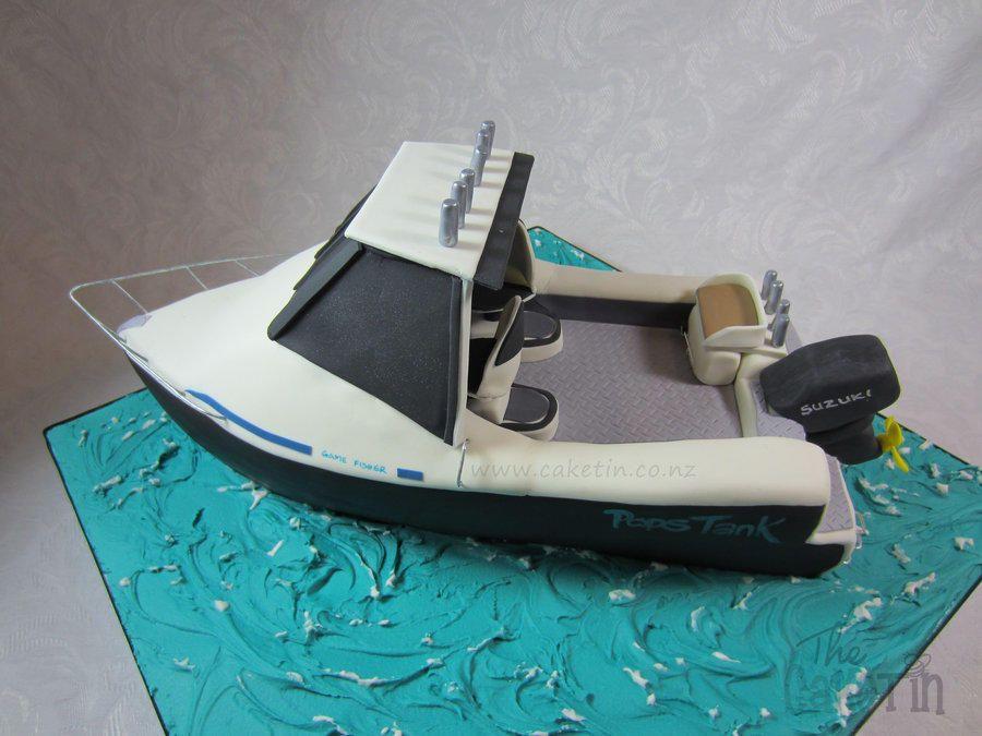 Surtees Fishing Boat Cake By The Cake Tin Cakes Pinterest - Fishing boat birthday cake