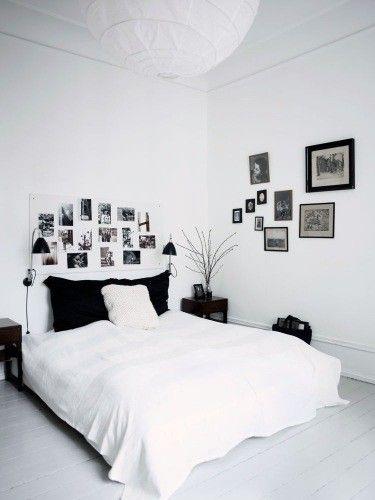 white bedroom   Pinterest - Zwart wit, Slaapkamer en Zwart
