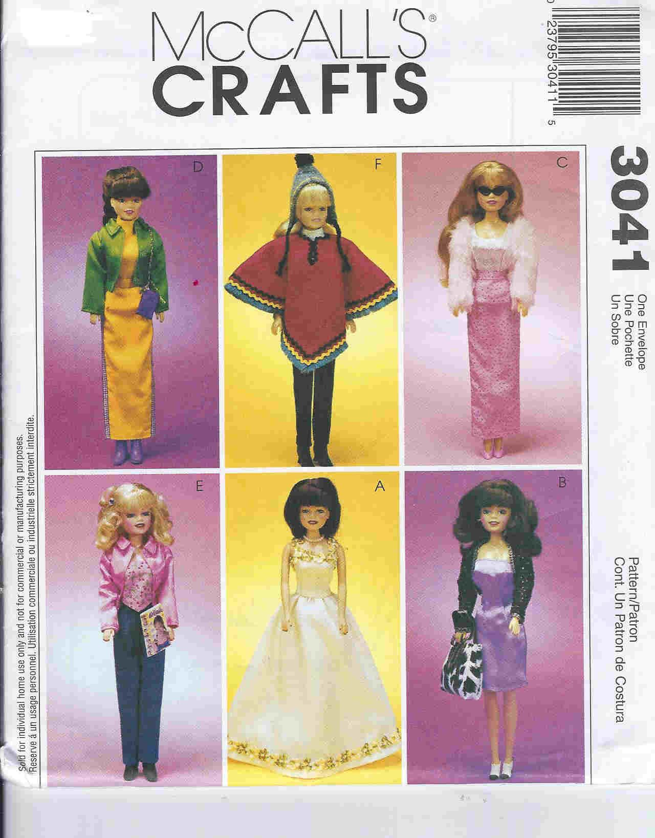 barbie doll sewing pattern