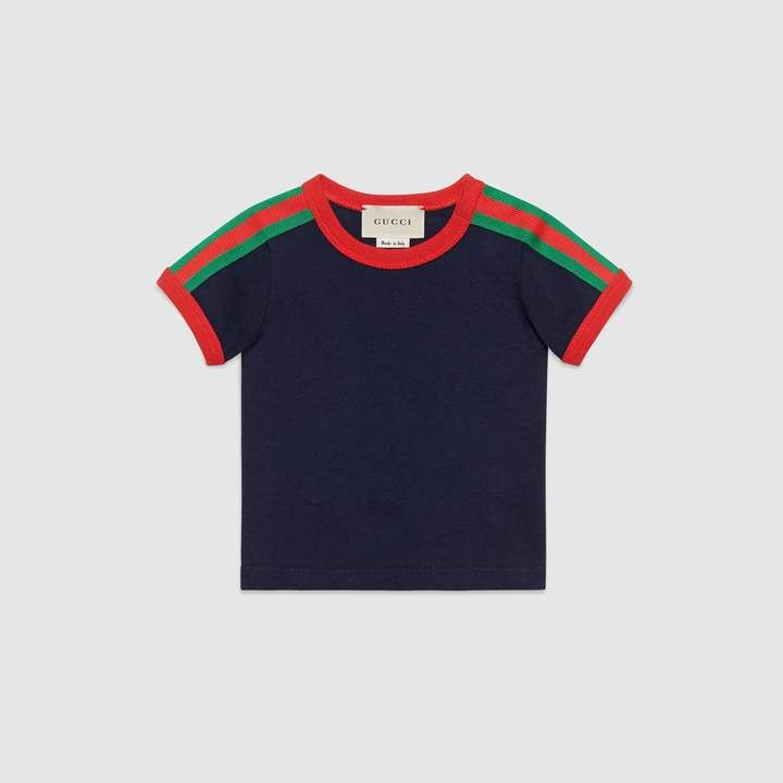 d768595914d Gucci Baby T-shirt with Web and Kingsnake