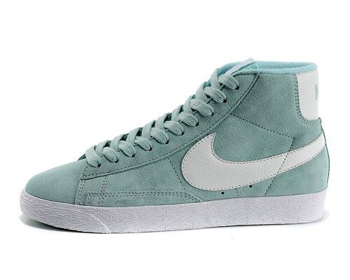 Cheap 375573310 Nike BLAZER MID 91640 sky blue white women shoes
