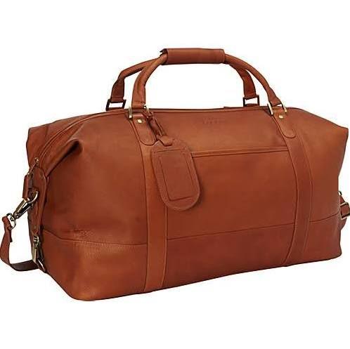 Bugatti Bogota Checked Leather Duffle Bag Cognac Travel Duffel Bags Leather Duffle Bag Leather Duffel Duffle Bag