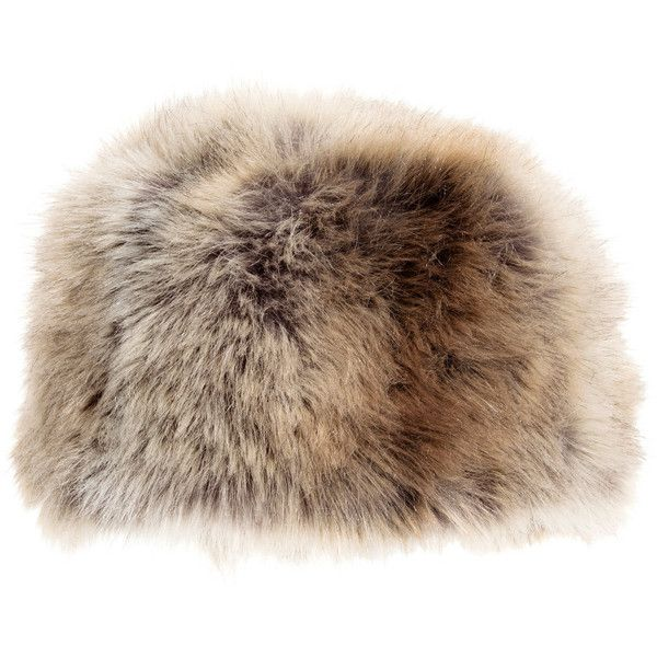 Faux Fur Hat $29.99 (41 CAD) ❤ liked on Polyvore featuring accessories, hats, faux fur hat, beige hat and fake fur hats