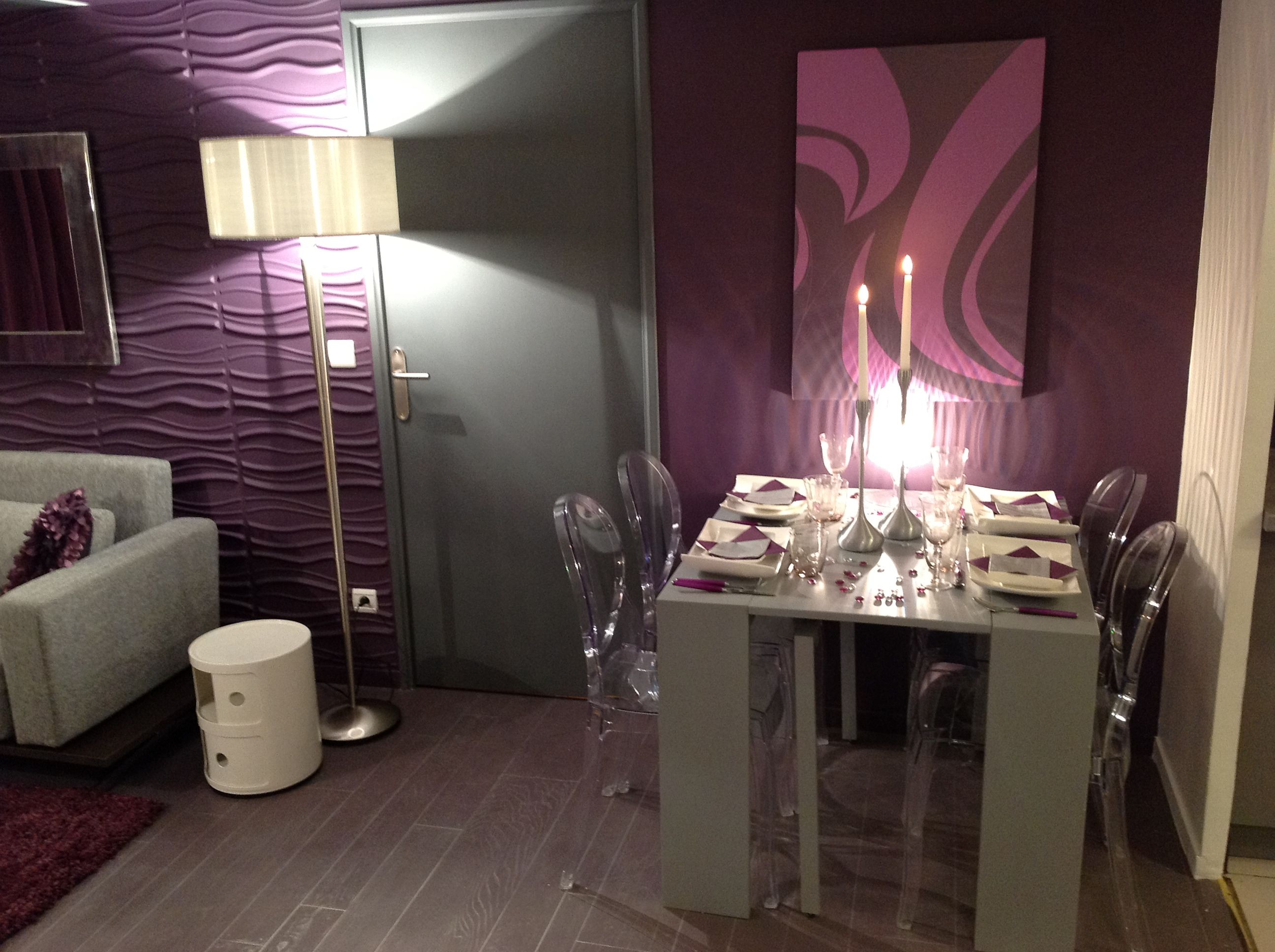 violet et gris | Дом | Decor, Dining room et Modern decor