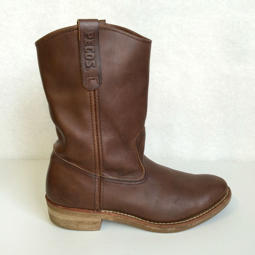 a83c36153d3e Red Wing Pecos 1155 Brown Leather Boots Men s Size 9 D Great Condition!   RedWing  WorkSafety