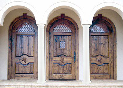 DbyD-2012. This Country French Exterior Wood Entry is Unique ...