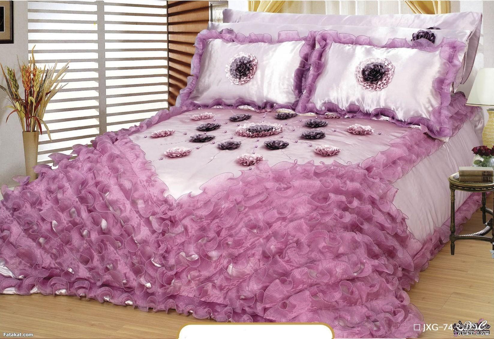 مفارش سرير تركى 2019 بالصور أحدث موديلات المفارش التركي للعرائس شيك جدا King Size Bed Sheets Designer Bed Sheets Luxury Bedding Sets