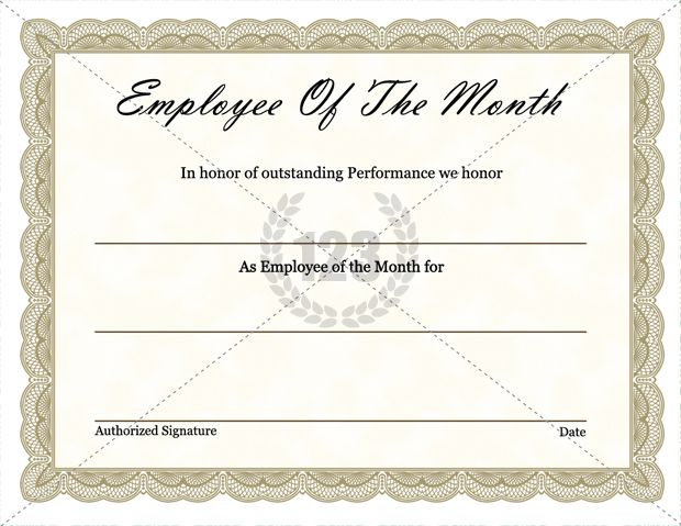 Best employee certificates templates free and premium for Employee of the month certificate template free download