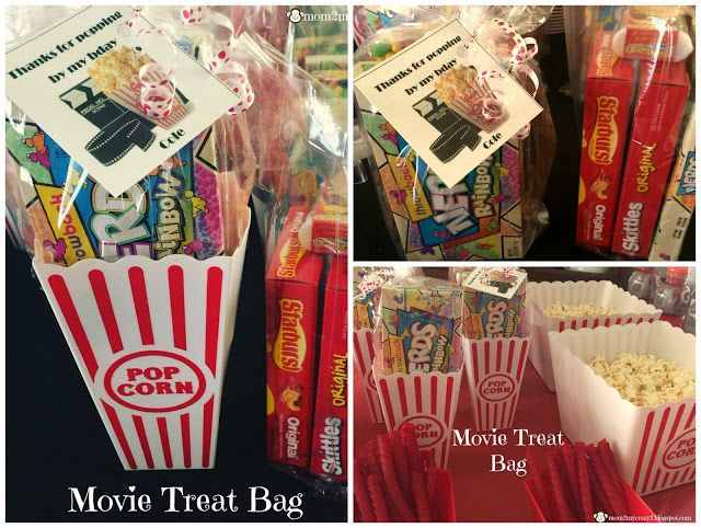Movie Themed Treat Gift Bags Candy Made Lights