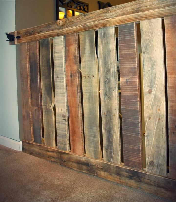 DIY Pallet Baby Gate For your Stairway! | Stair gate, Wood ...