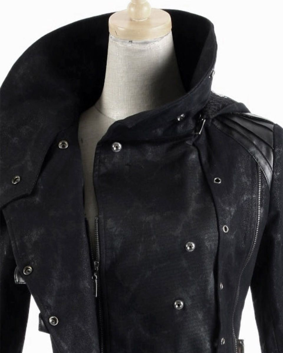 Details about Punk Rave Scorpion Mens Coat Long Jacket Black Gothic Steampunk Hooded Trench