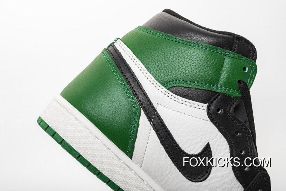 d75e0857463 Black Green Toes Aj1 Full Grain Leather 555088 302 Air Jordan 1 High OG Pine  Green Super Deals
