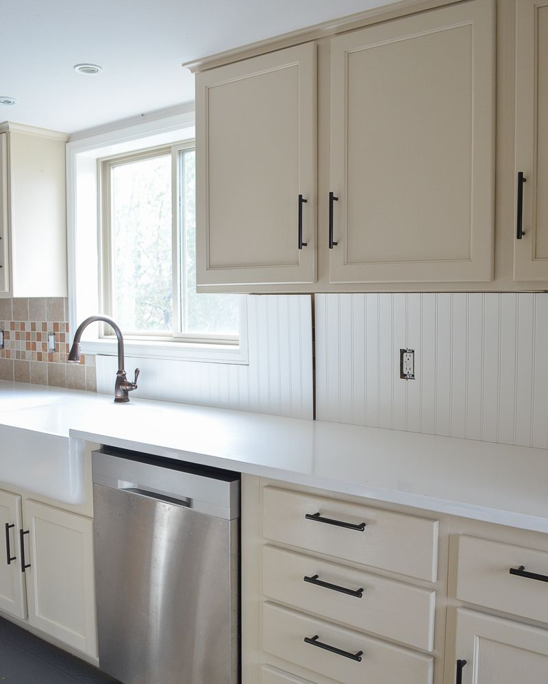 How To Cover Tile Backsplash With Beadboard Cooking In Style