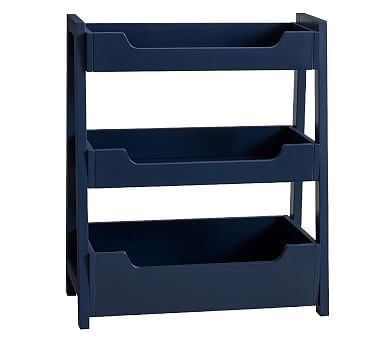 Small Spaces Ladder Bookcase, Navy   *Furniture > Bookcases ...