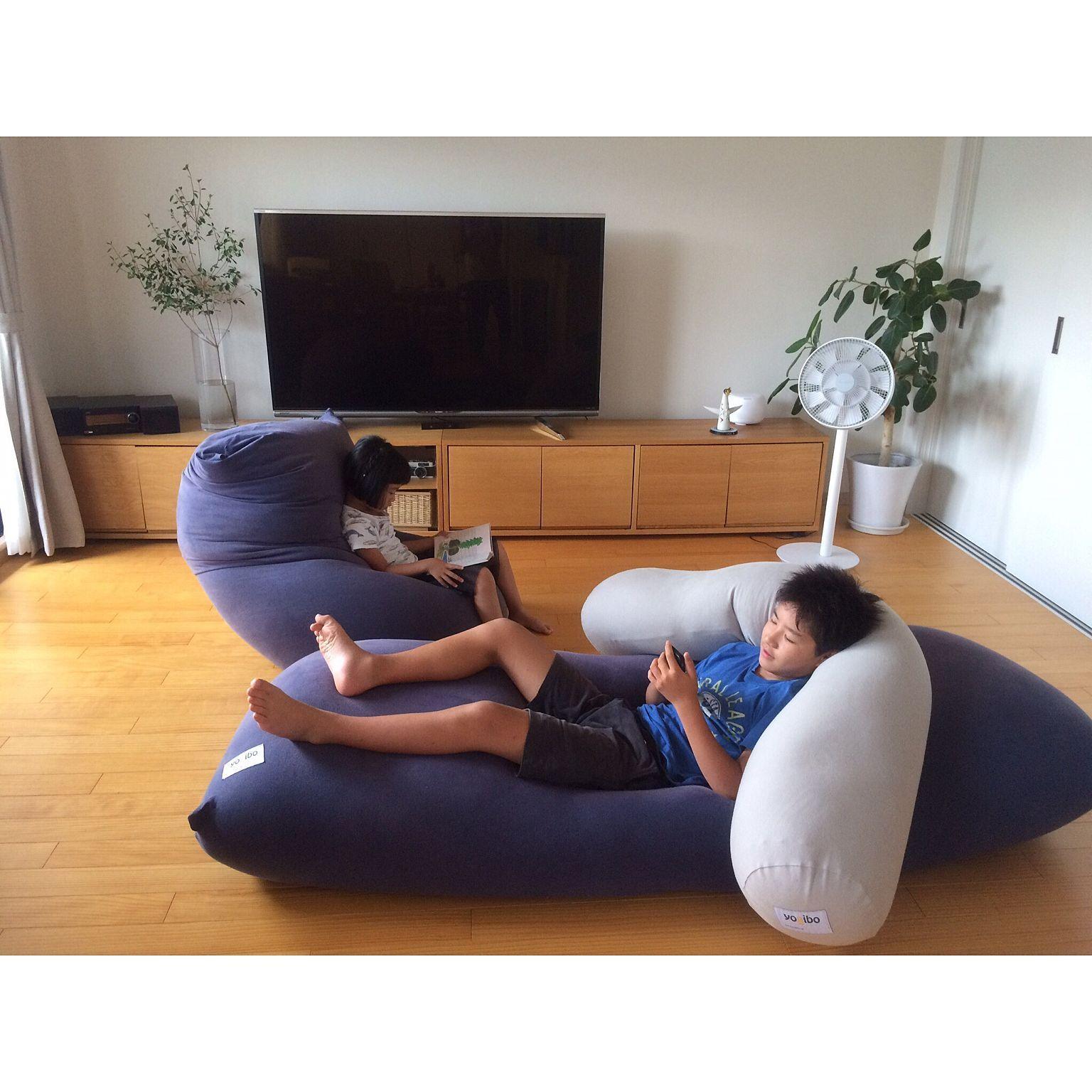 リビング Yogibo ヨギボー テレビ台 テレビ周り などのインテリア実例 2017 07 13 22 53 30 Roomclip ルームクリップ ヨギボー ソファなしリビング インテリア 収納