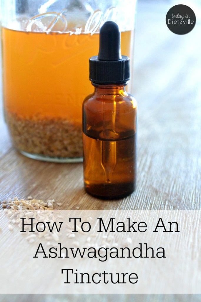 How To Make An Ashwagandha Tincture (+ ashwagandha's