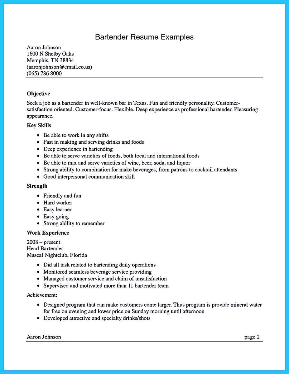 Bartender Job Description Resume Internet Offers Various Bartender Resume Template And Samples That