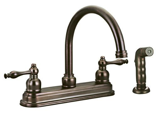 Design House 545343 Saratoga Kitchen Faucet with Sprayer, Antique ...