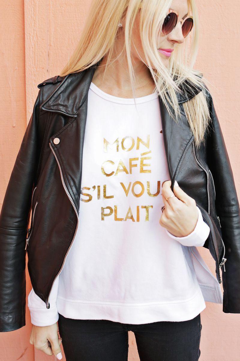 Gold Foil Phrase Sweatshirt DIY | DIY | Pinterest | Camisetas ...