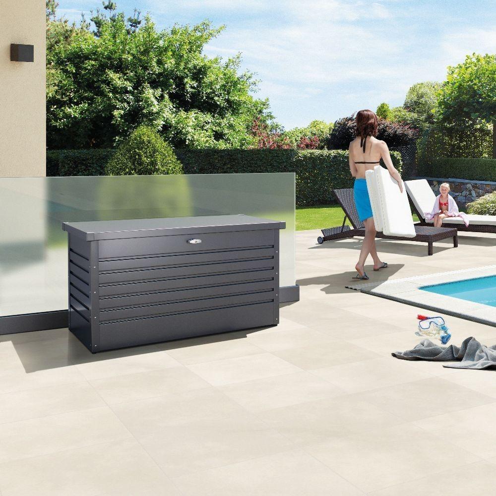 Biohort Leisuretime 130 Dark Grey Storage Box Patio Storage Outdoor Storage Solutions