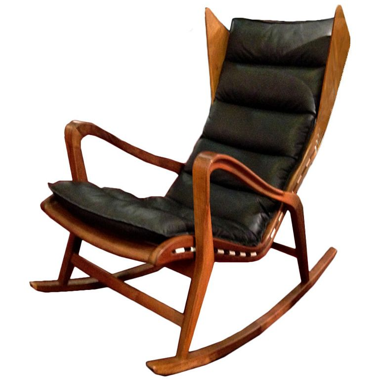 Awe Inspiring Rocking Chair Mod 572 Production Cassina Attributed Gio Lamtechconsult Wood Chair Design Ideas Lamtechconsultcom