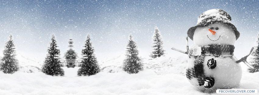 Snowman Facebook Cover Photo Fb Covers Schneemann Schnee