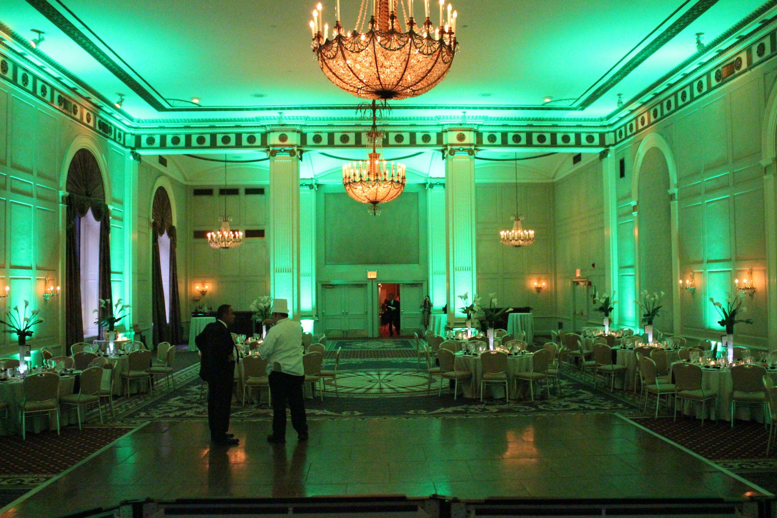 Green Uplighting Wedding Dj Setup Uplighting Wedding Uplighting