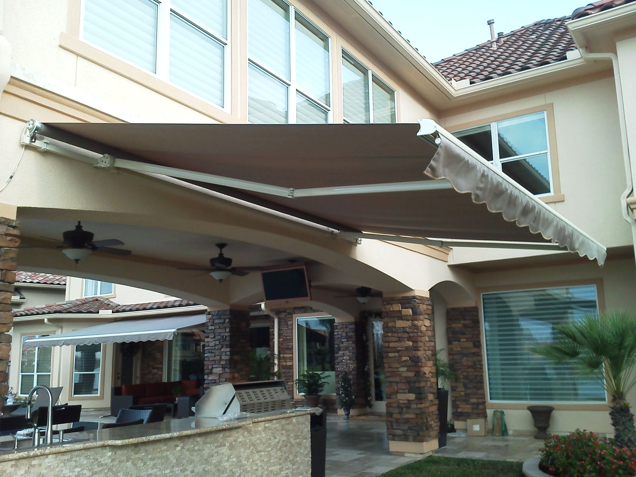 Motorized Pro 16 Sunsetter Retractable Awning From