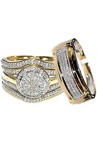Rings Midwestjewellery Com 4 Piece 10k Yellow Gold 0 66carats