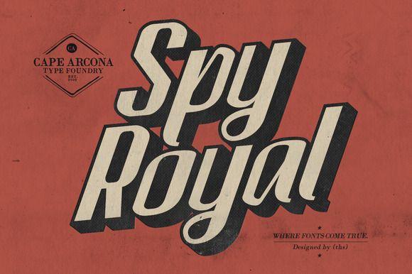 CA Spy Royal by Cape Arcona Type Foundry on @creativemarket