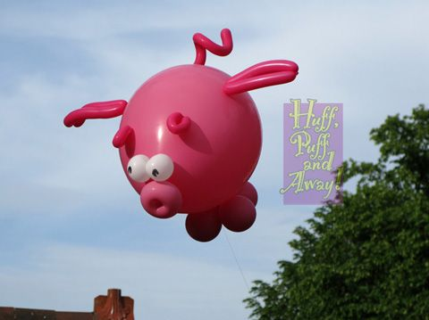Huff Puff Balloons / Flying Pigs | ....... nothin' but ...