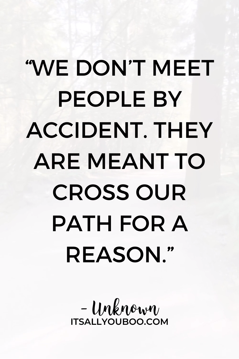 You Meet People for a Reason