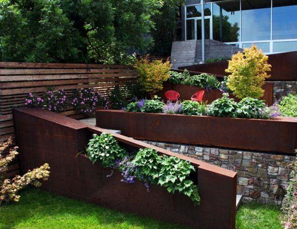 Garten klein Steinmauer bepflanzen Ideen Fotos Kopshti Pinterest