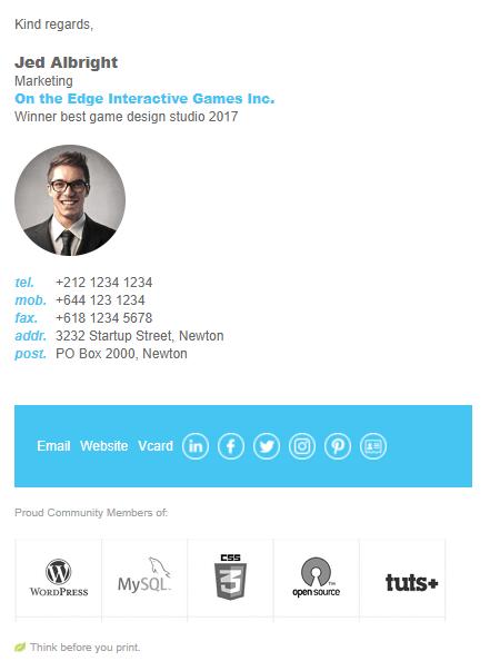 Email Signature Template - Market Me   Email Signature