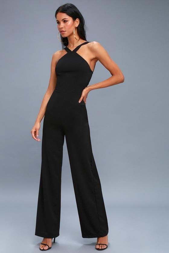 b18b019eb056  EnvyWe  Lulus -  Lulus Calle Ocho Black Wide-Leg Jumpsuit - Lulus -  EnvyWe.com
