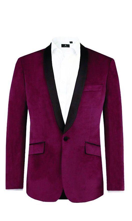 Alexander Dobell Burgundy Slim Fit Velvet Jacket-44R