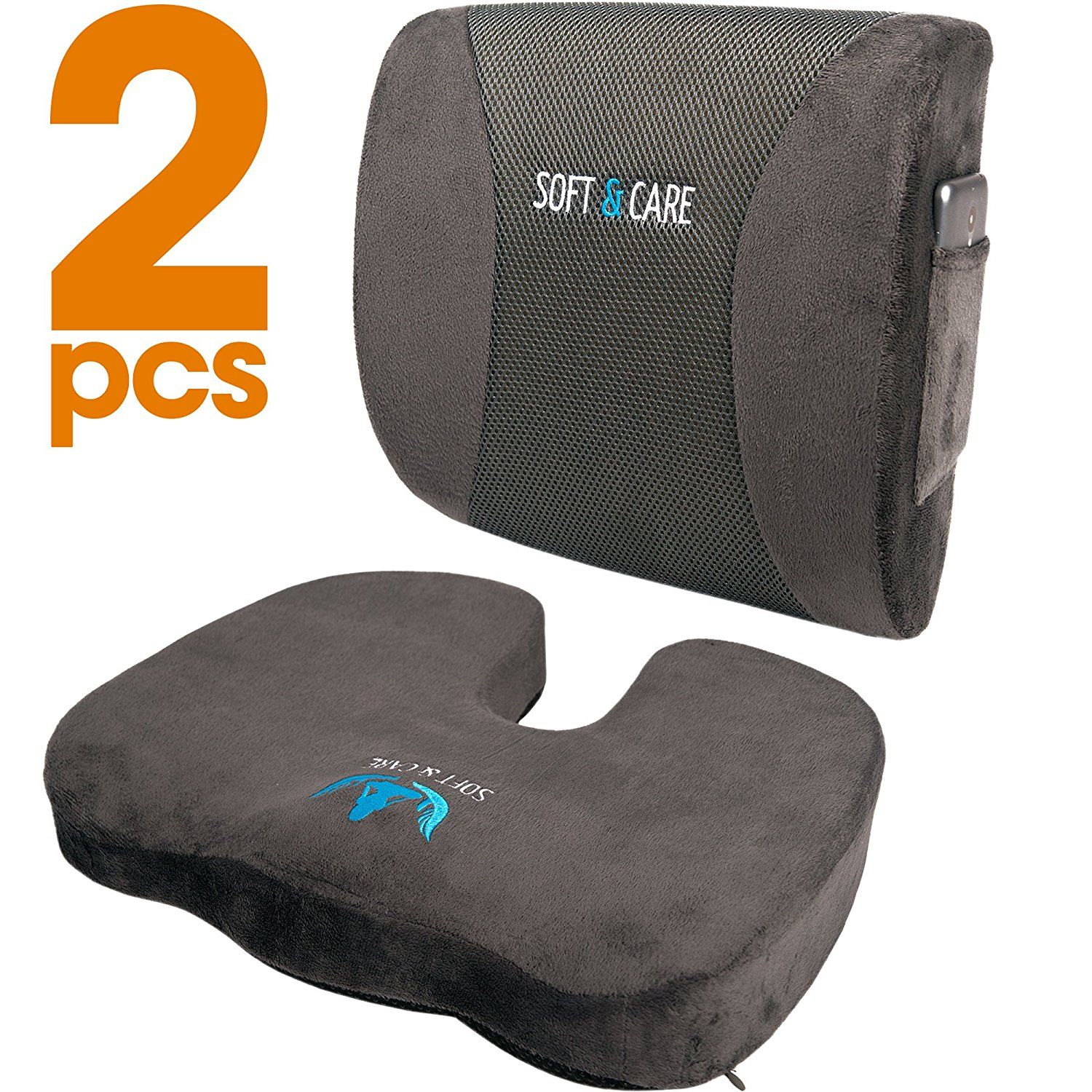 95321660f5547 Amazon.com: Soft&Care Seat Cushion Coccyx Orthopedic Memory Foam and ...