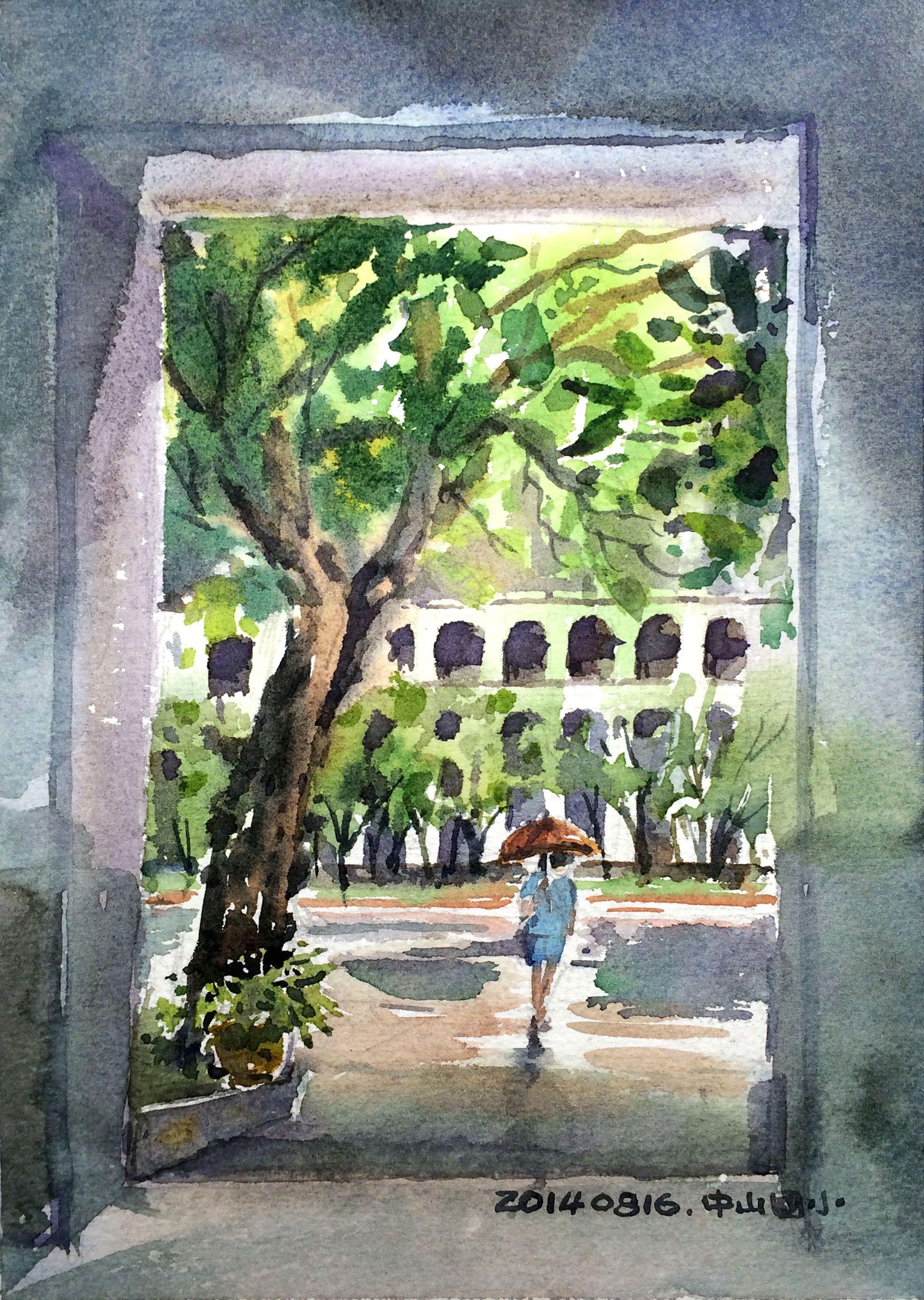 20140816 台北市 中山國小 Urban Sketchers Taipei 速寫‧台北 寫生活動