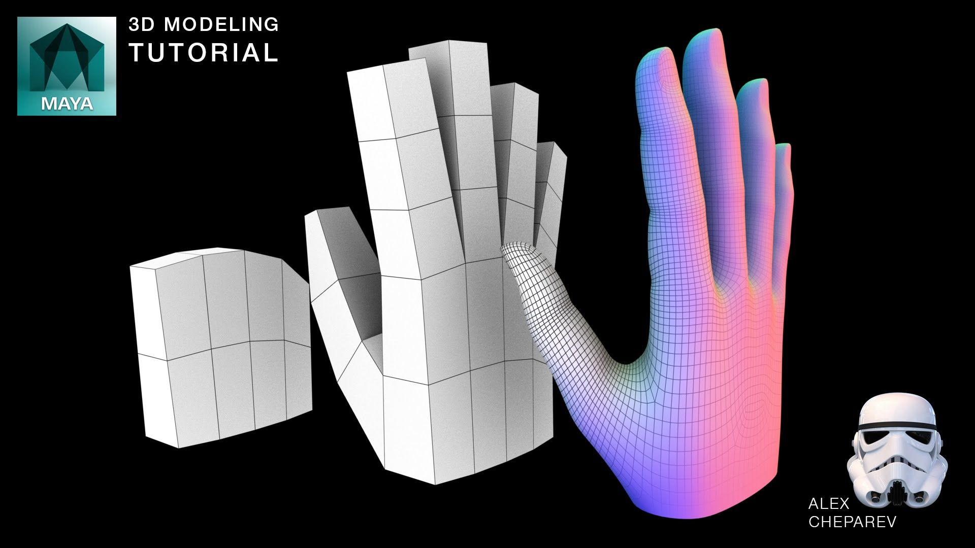 This Is My Very Simple Hand Modeling Workflow Using Just Box Modeling And Hand Model Maya Modeling 3d Modeling Tutorial