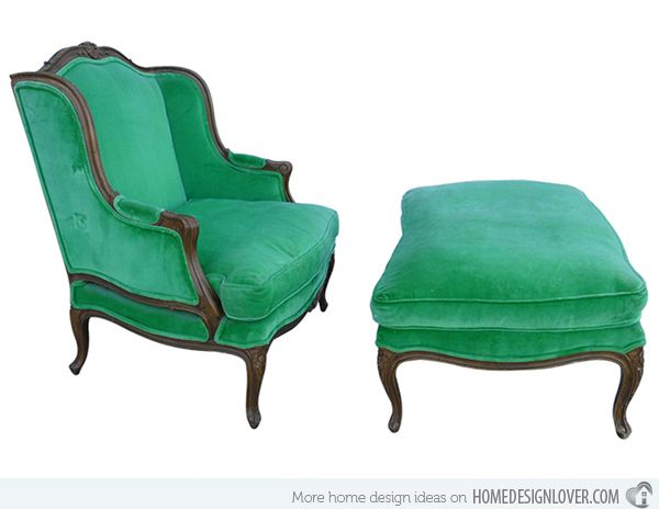 15 Antique Wingback Chairs in Plain Colors | Home Design Lover - 15 Antique Wingback Chairs In Plain Colors Vintage Chairs