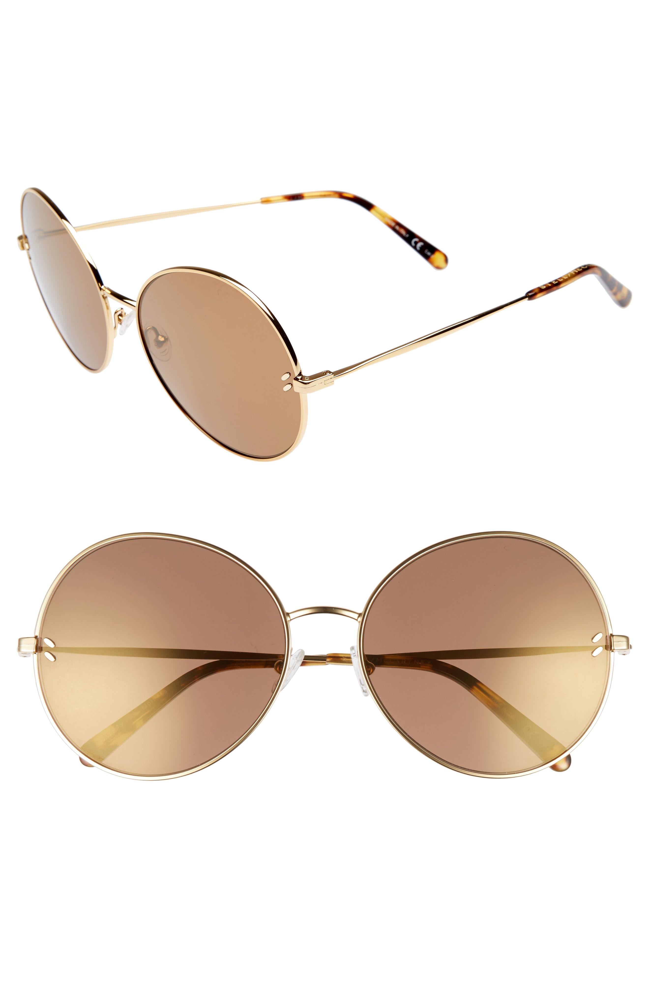 4eea251130f64 Stella McCartney 62mm Round Sunglasses available at  Nordstrom ...