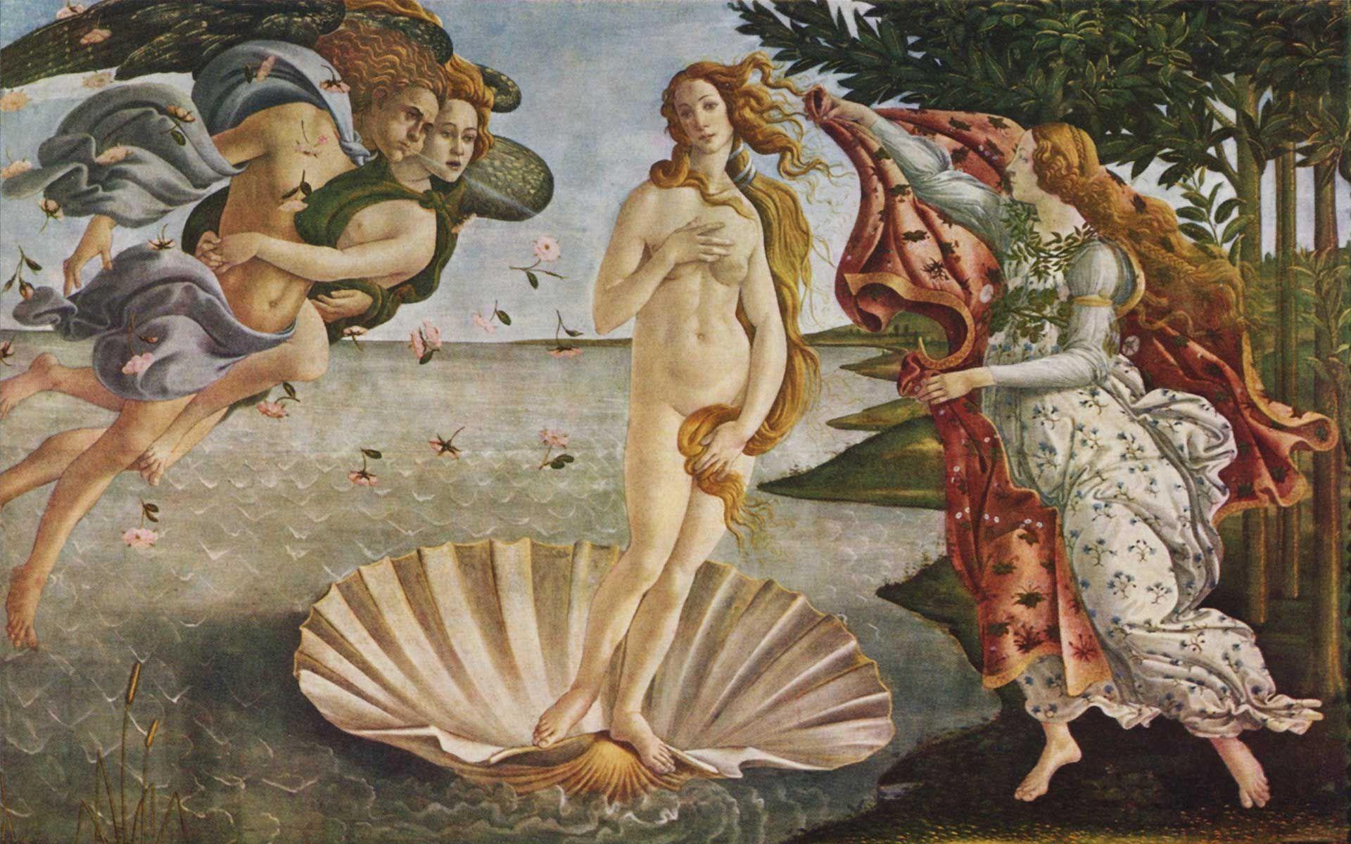 Wallpapers de Famosas Pinturas para tu Compu  Renacimiento Venus