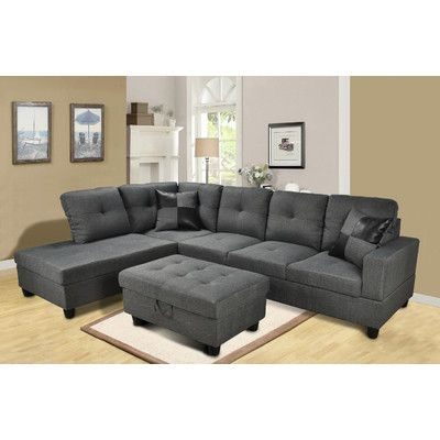 Beverly Fine Furniture Della Chaise Living Room Sectional Set & Reviews   Wayfair